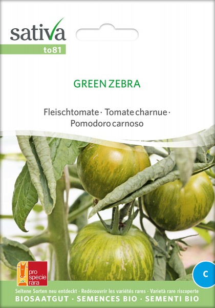BIO Saatgut Tomate green zebra