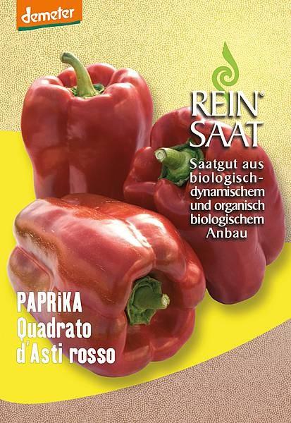 BIO Saatgut Paprika Quadrato d´Asti Rosso