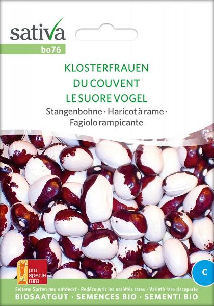 BIO Saatgut Stangenbohne Klosterfrauen