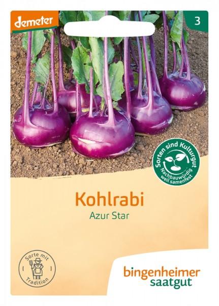BIO Saatgut Kohlrabi Azur Star, blau