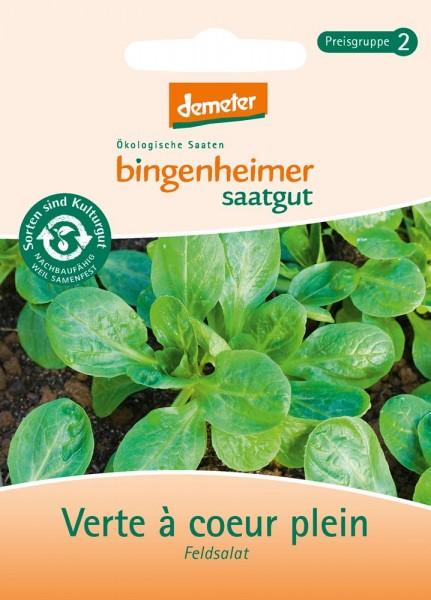 BIO Saatgut Feldsalat Dunkelgrüner Vollherziger