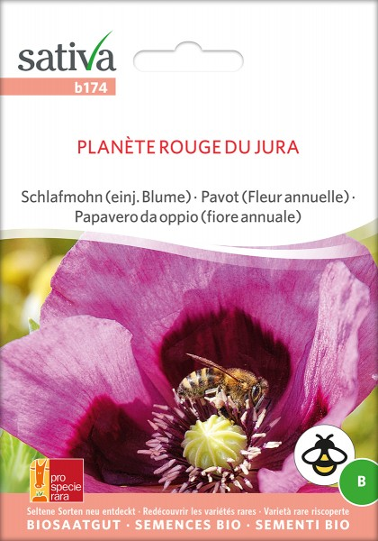 BIO Saatgut Mohn Planéte rouge du Jura
