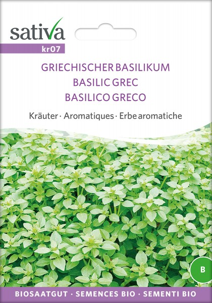 BIO Saatgut Griechischer Basilikum