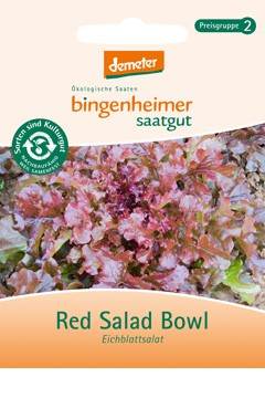 BIO Saatgut Pflücksalat Red Salad Bowl