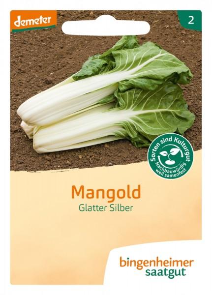 BIO Saatgut Mangold Glatter Silber