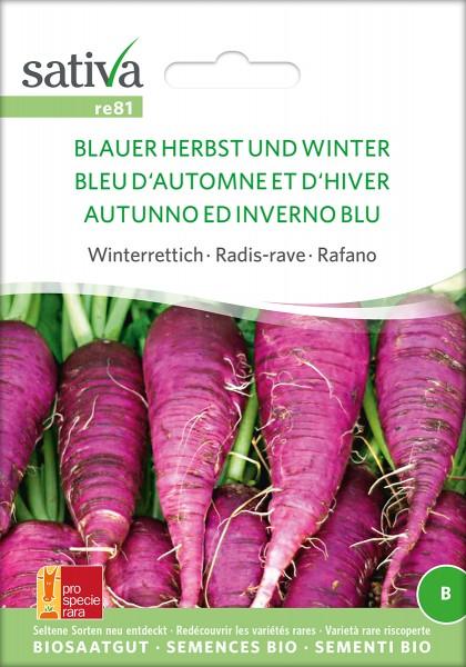 BIO Saatgut Winterrettich Blauer Herbst und Winter