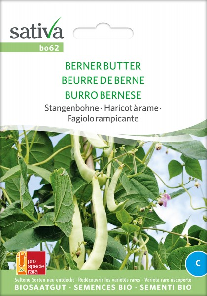 BIO Saatgut Stangenbohne Berner Butter