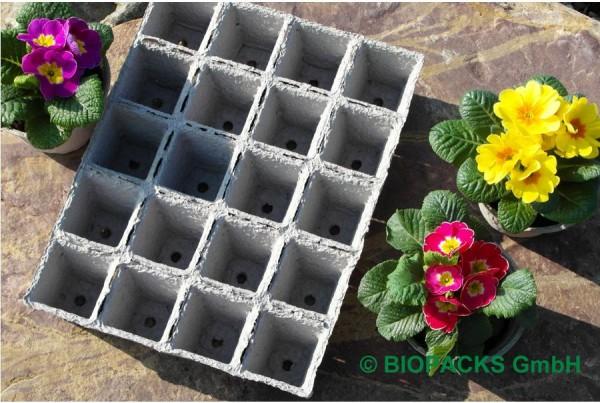 Papierpflanztöpfe Wabe 4x5