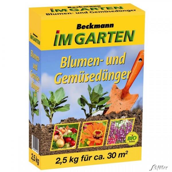 Beckmann BIO Blumen- und Gemüsedünger 2,5kg