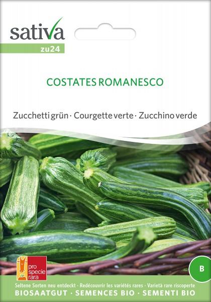 BIO Saatgut Zucchini Costates Romanesco