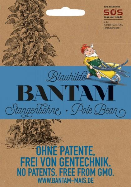 BIO Saatgut AKTION Bantam Stangenbohne Blauhilde