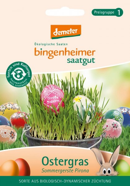 BIO Saatgut Ostergras-Sommergerste Pirona