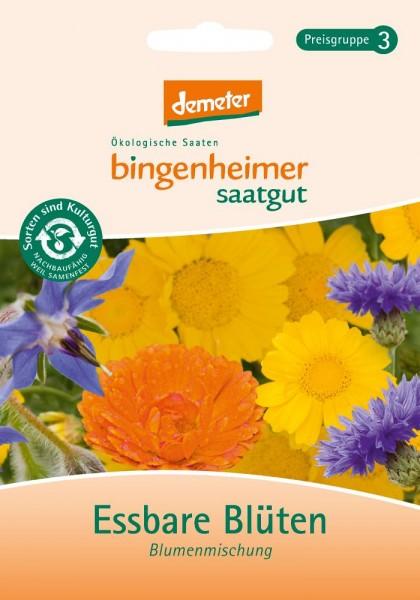 BIO Saatgut Blumenmischung Essbare Blüten