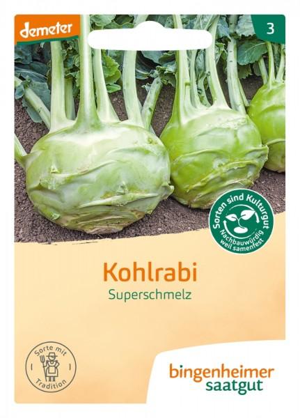 BIO Saatgut Kohlrabi Superschmelz, weiß