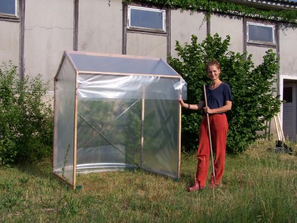 Tomatenhaus 150 x 120 x 180 cm einfach