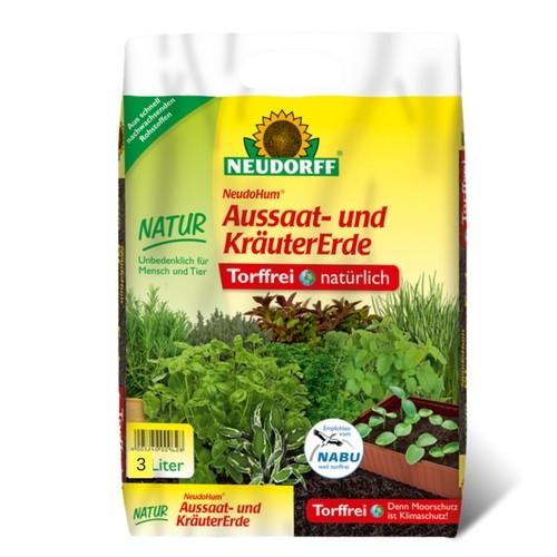 NeudoHum® Aussaat- und KräuterErde 3l